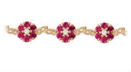 Золотые браслеты с рубинами
