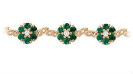 Золотые браслеты с изумрудами