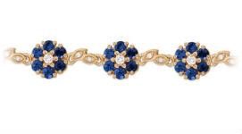 Золотые браслеты с сапфирами