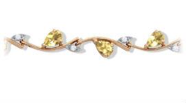 Золотые браслеты с цитринами