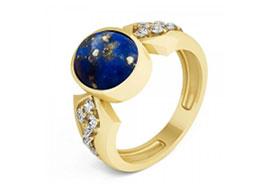 Золотые кольца с лазуритом