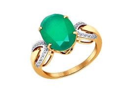 Золотые кольца с хризопразами