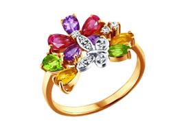 Кольца с цветными камнями
