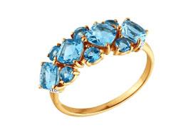 Золотые кольца с топазами