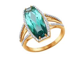 Золотые кольца с кварцем