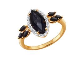 Золотые кольца с шпинелью