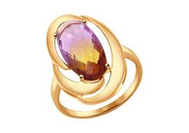 Золотые кольца с ситаллом
