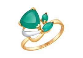 Золотые кольца с агатами
