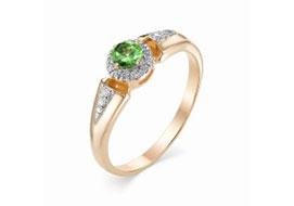 Золотые кольца с цаворитами