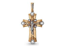 Золотые крестики с драгоценными камнями