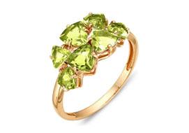 Золотые кольца с хризолитами