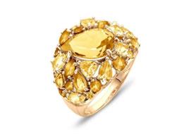 Золотые кольца с цитринами