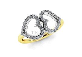 Золотые кольца с муассанитами