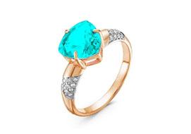 Золотые кольца с параибой
