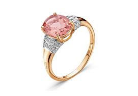 Золотые кольца с морганитом