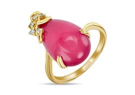 Золотые кольца с халцедоном