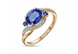 Золотые кольца с кианитом