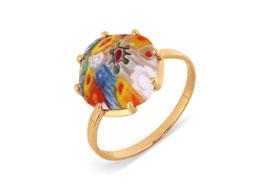 Золотые кольца с ювелирным стеклом