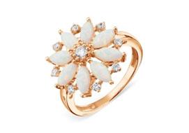 Золотые кольца с опалом