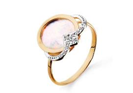 Золотые кольца с перламутром