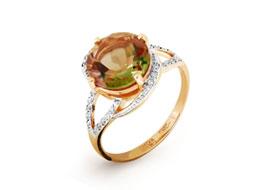 Золотые кольца с султанитами