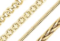 Цепочки из желтого золота