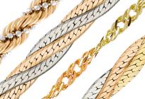 Цепочки из комбинированного золота