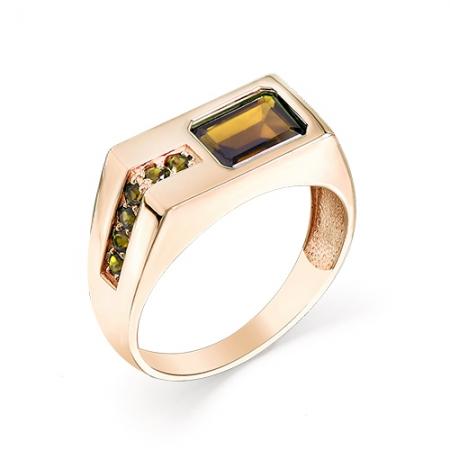 Мужское кольцо из красного золота с султанитом