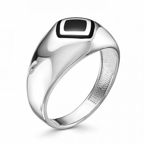 Мужское кольцо из серебра с эмалью
