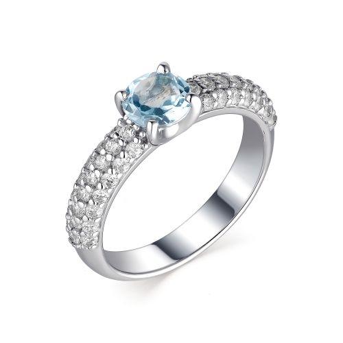 Женское кольцо из серебра с топазом Sky