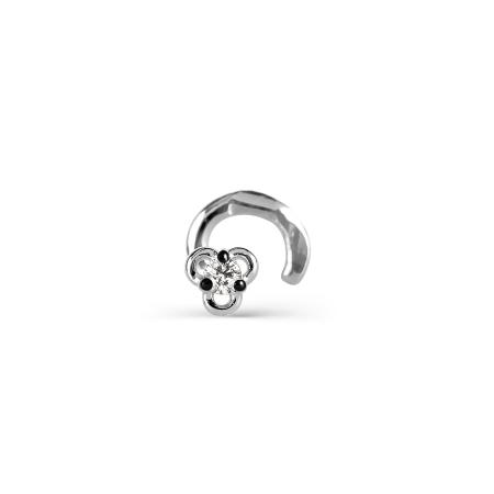 Т30107156 пирсинг из белого золота с бриллиантом