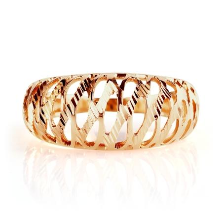 Т100615787 золотое кольцо ажур без камней