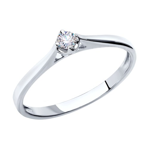 Золотое помолвочное кольцо с бриллиантами SOKOLOV
