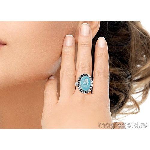 Кольцо с карбоном