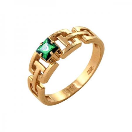 Кольцо из золота 585 пробы с изумрудом