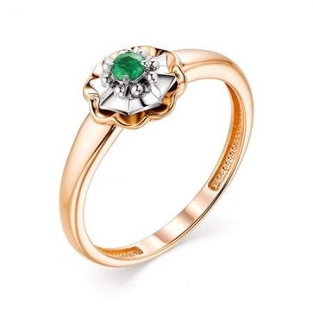 13167-101 женское кольцо из золота с изумрудом