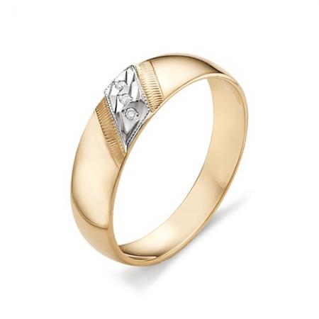 12031-100 обручальное кольцо с тремя бриллиантами