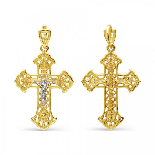 Крестик из желтого золота