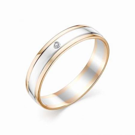 12396-100 обручальное кольцо из двухцветного золота