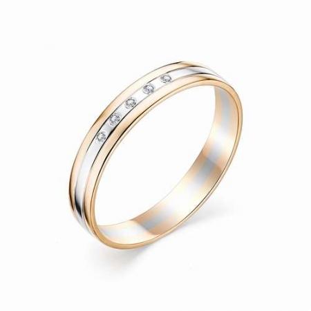 12377-100 обручальное кольцо из двухцветного золота