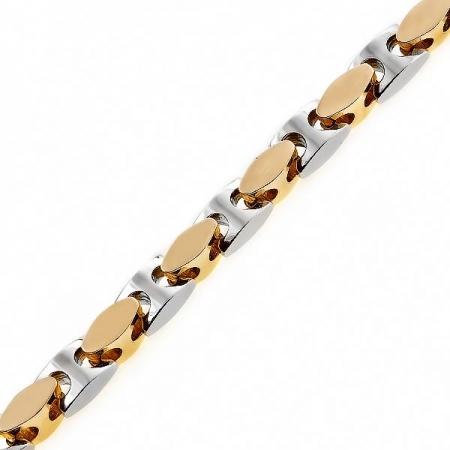Т-12545 крупная мужская золотая цепочка