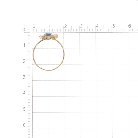 Т143018328 золотое кольцо с топазом и фианитами