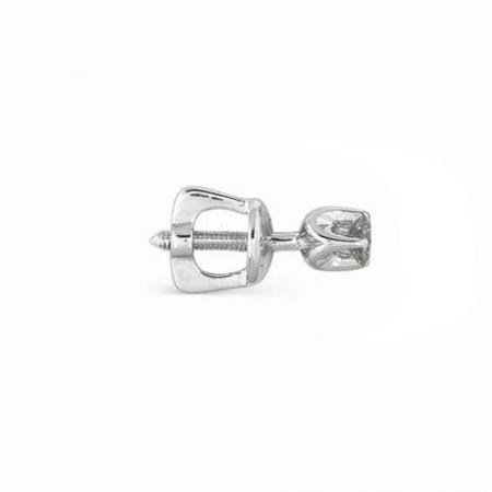 2234-200 серьги гвоздики из белого золота с бриллиантами