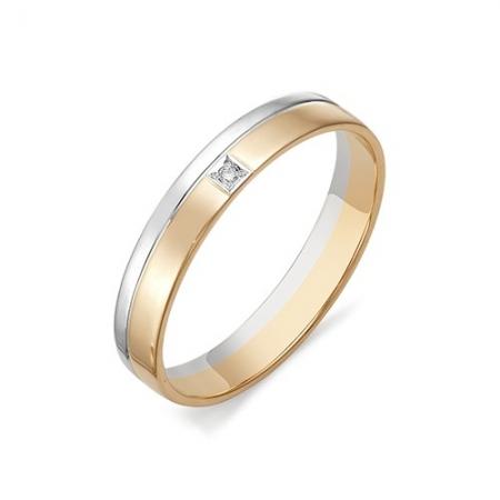 12370-100 обручальное кольцо из двухцветного золота