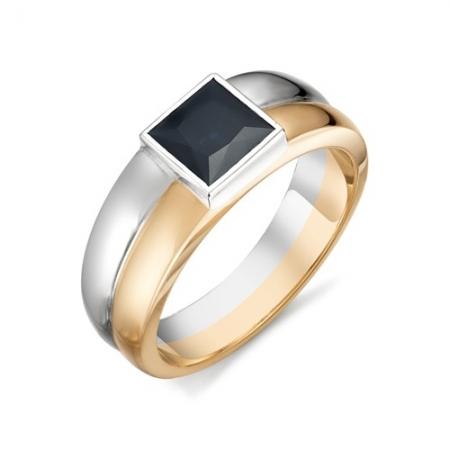 11523-102 мужское кольцо с большим квадратным сапфиром