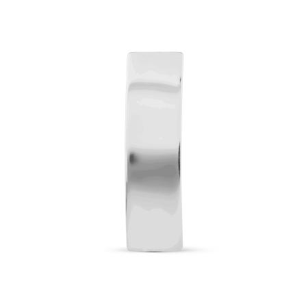 Т300028019 серьги-гвоздики из белого золота без камней