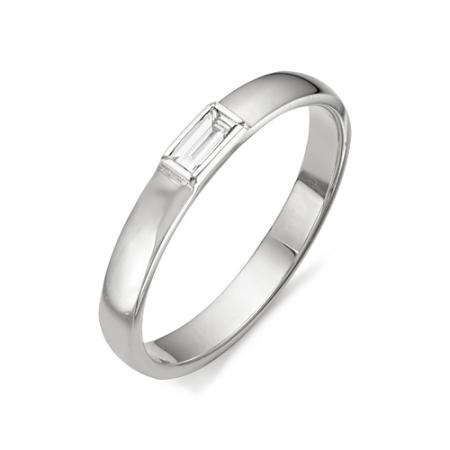 11565-200 обручальное кольцо с бриллиантом формы багет