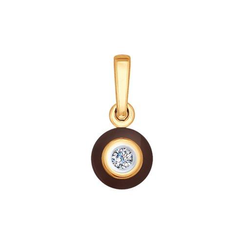 Золотая подвеска (Керамика, Бриллиант) SOKOLOV