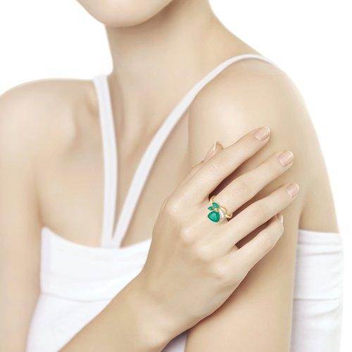Золотое кольцо (Агат) SOKOLOV