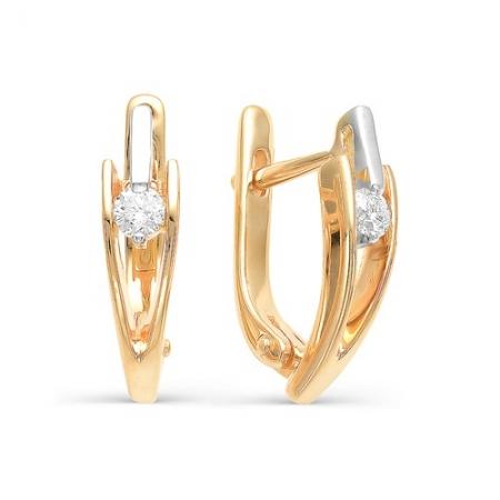 2090-100 серьги из золота с бриллиантами